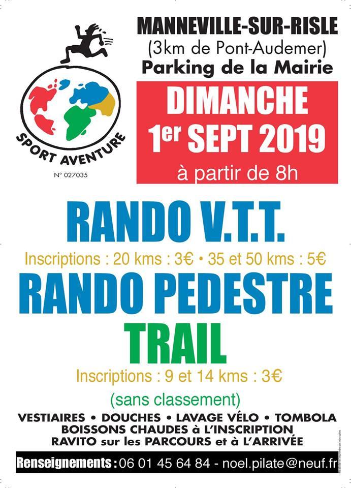 """[Dimanche 1er septembre 2019]- La """"Mannevillaise"""" 4ème édition, au-dessus de Pont-Audemer. 67758710"""