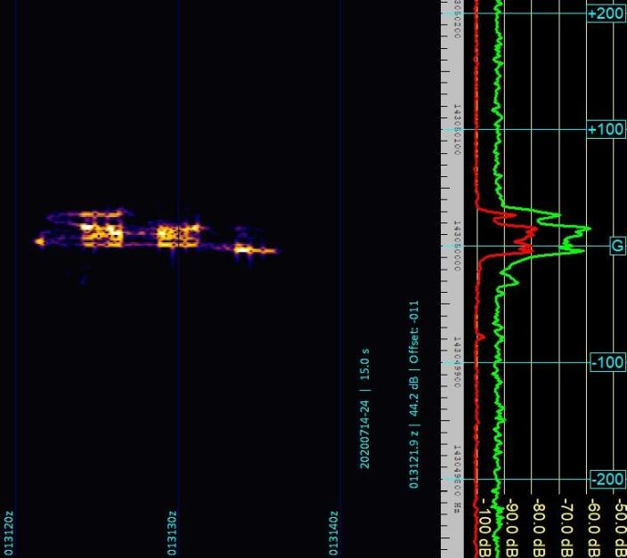 Recoupement de captures video et d'enregistrements de traces du Radar Graves 2020_011