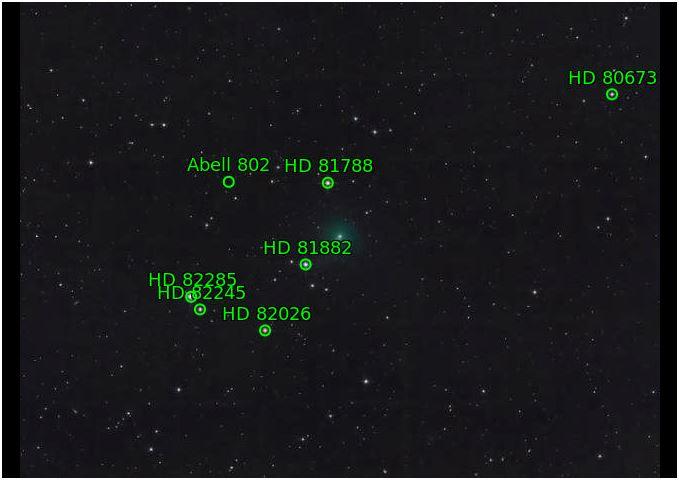 La comète Atlas arrive Chrome11