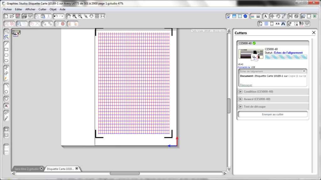 Problème de repère d'alignement et de coupe sur Graphtec ce 6000-40 Pb_ali12