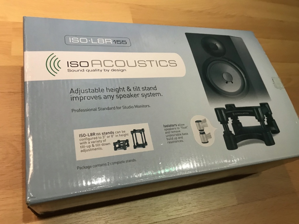 IsoAcoustics ISO-L8R155 Monitor Stand Img_4112
