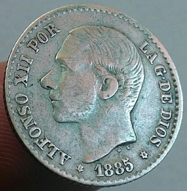 Alfonso Xll 50 centimos 1885 *8*6 Img_2035