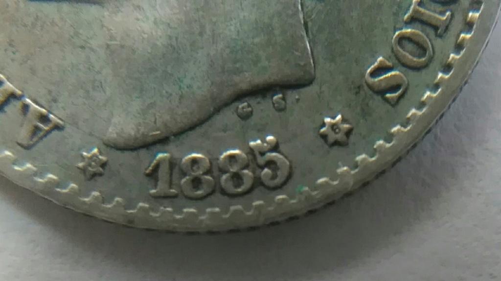 Alfonso Xll 50 centimos 1885 *8*6 Img_2039