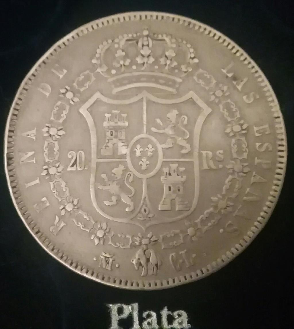 20 Realillos. - 20 reales Isabel ll. Madrid. 1850 CL. Img_2126