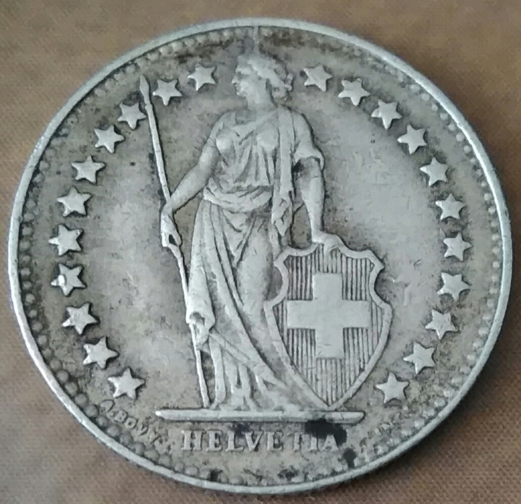 Medio Franco de 1941. Confederación Helvetica. Img_2257