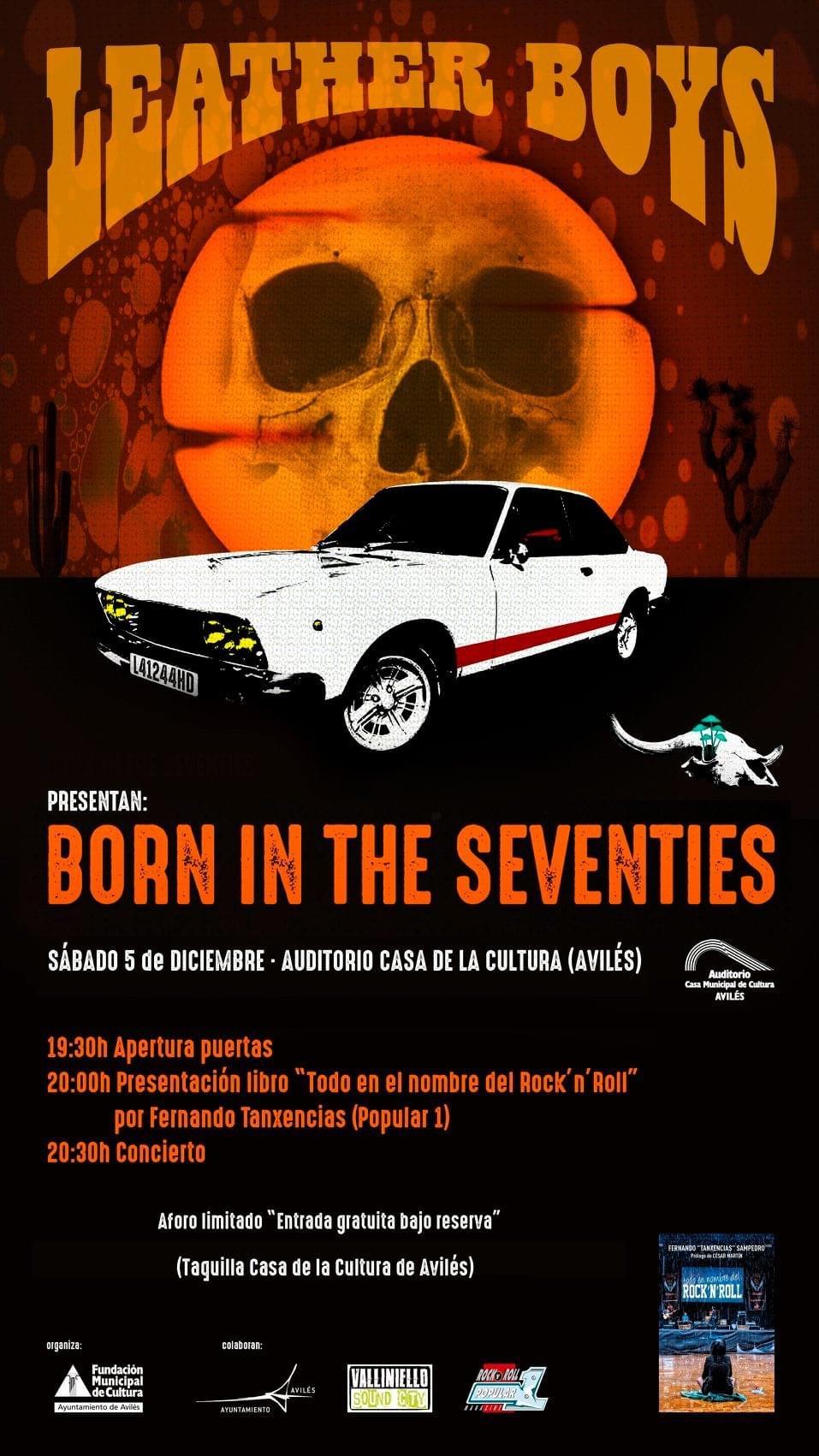"""Leather Boys nuevo disco """"Born in the 70's""""(YA A LA VENTA). Presentación oficial en directo 28 marzo Avilés (Asturias) y 3 Julio Sala Son Cangas (Galicia). B7270810"""