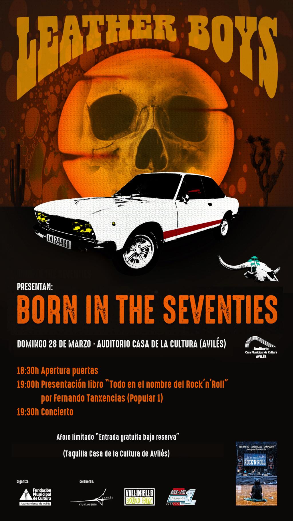 """Leather Boys nuevo disco """"Born in the 70's""""(YA A LA VENTA). Presentación oficial en directo 28 marzo Avilés (Asturias) y 3 Julio Sala Son Cangas (Galicia). C4916510"""