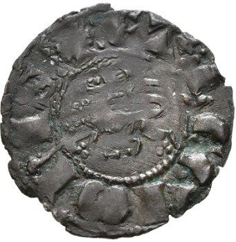 Dinero de Fernando IV Emisión de 1297. Smg_1125