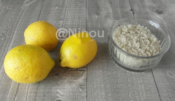 Citron confit au sel...............Maroc 27101110