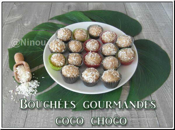 Bouchées gourmandes coco choco vegan Bouchz12