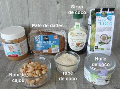 Bouchées gourmandes coco choco vegan Captu123