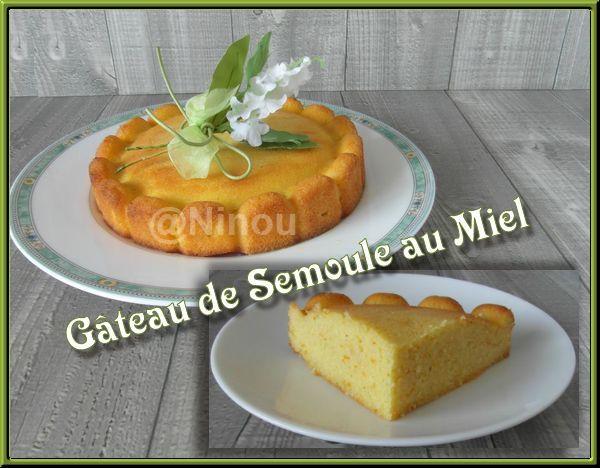 Gâteau de Semoule au Miel Gateau10