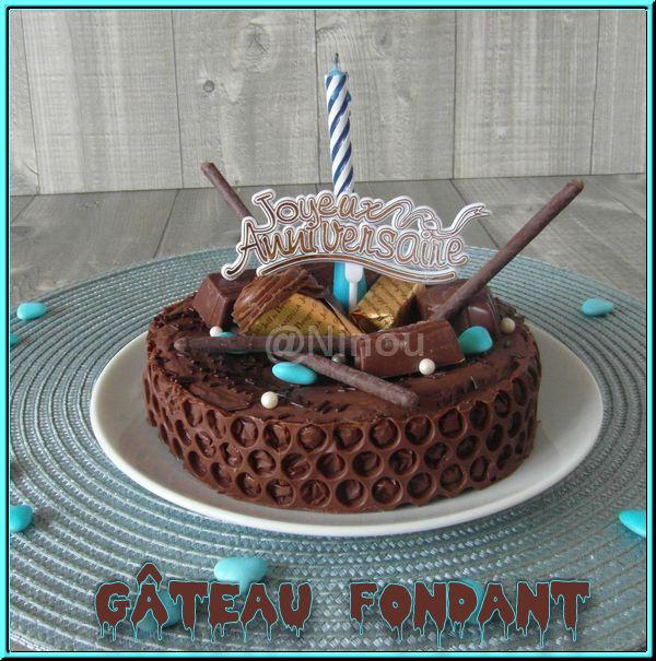 Gâteau fondant au chocolat sans beurre N11