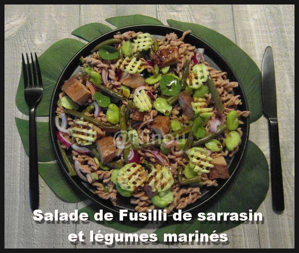 Salade de Fusilli de sarrasin et légumes marinés Sam_8518