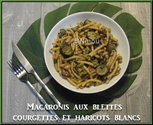 Macaronis aux blettes, courgettes et haricots blancs Sam_8613