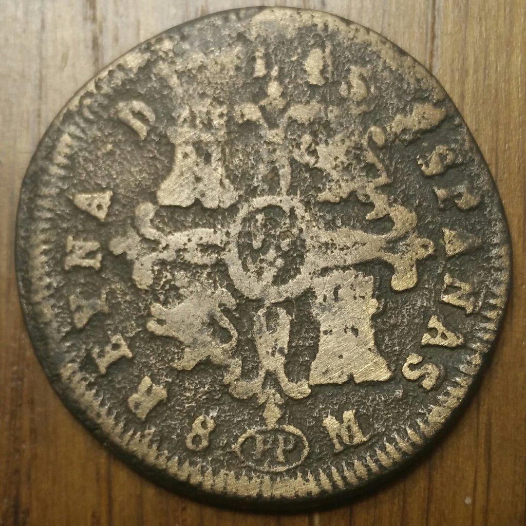 8 Maravedis 1837 Pamplona Isabel II Fundida 8-mara12