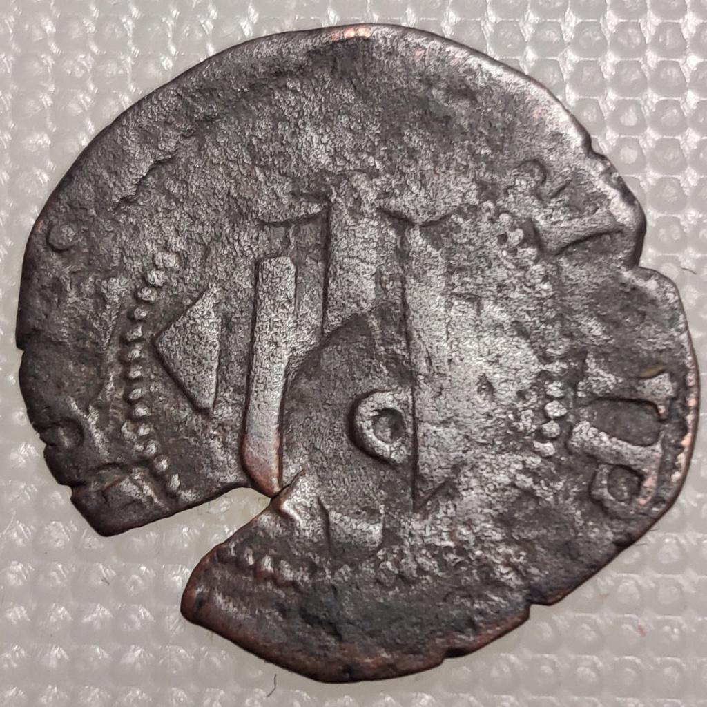 """Ardite de Puigcerdá con resello """"P""""  Felipe II (1556-1598) Whatsa16"""