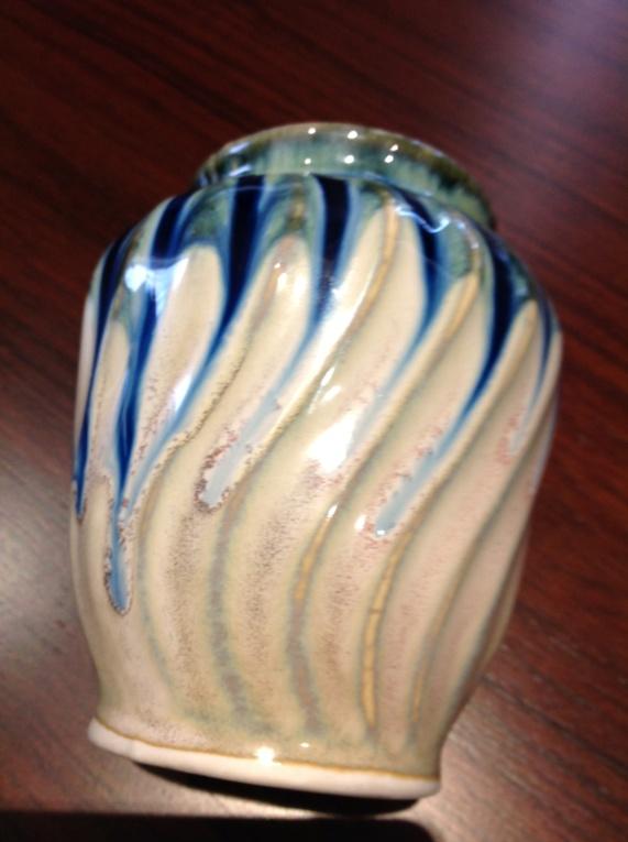 Blue glazed pot. Img_1920