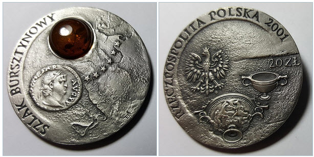 20 zlotych Amber Road Polonia 2001 20zlot10