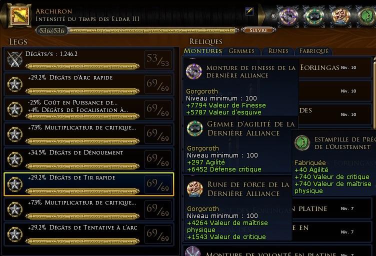 """Chasseur maître archer """"Jourdi"""" traits et équipements Arc-ro10"""
