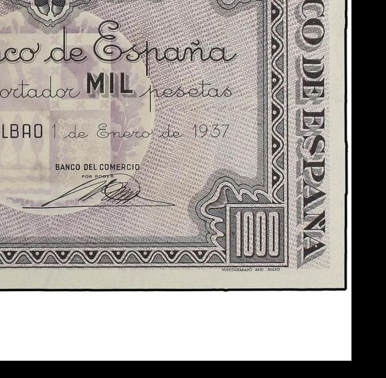 Diferentes antefirmas Billetes del Banco de España en Bilbao (1937) 1000_p10