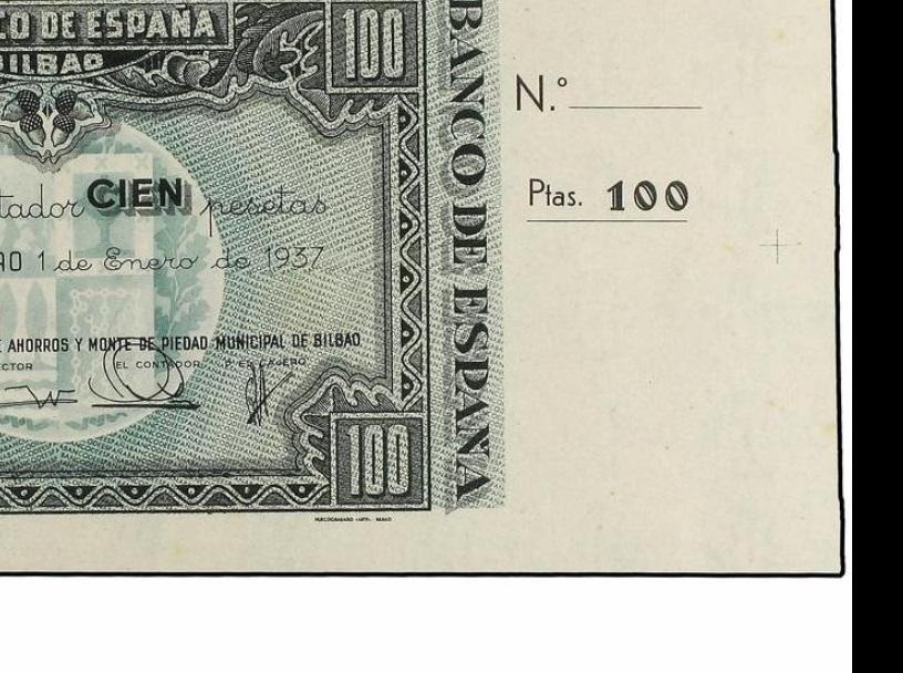 Diferentes antefirmas Billetes del Banco de España en Bilbao (1937) 100_pe10