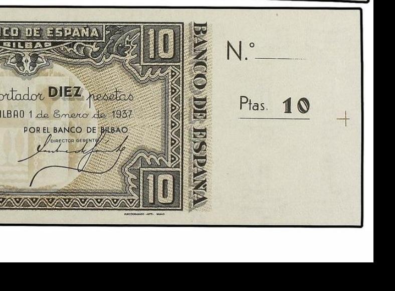 Diferentes antefirmas Billetes del Banco de España en Bilbao (1937) 10_pes10