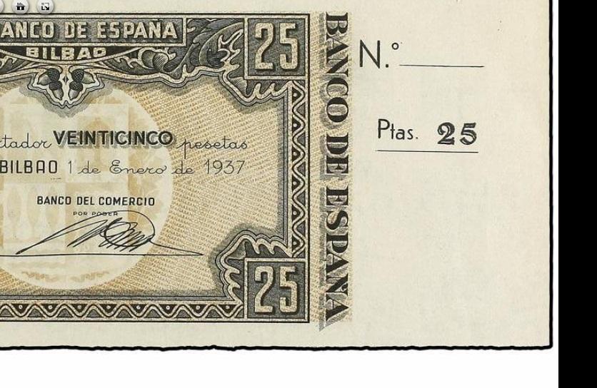 Diferentes antefirmas Billetes del Banco de España en Bilbao (1937) 25_pes12