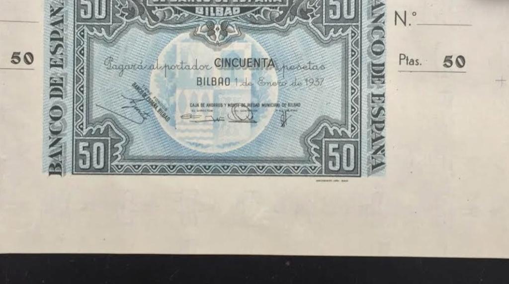 Diferentes antefirmas Billetes del Banco de España en Bilbao (1937) 50_pes12