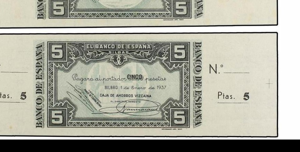 Diferentes antefirmas Billetes del Banco de España en Bilbao (1937) 5_pese13