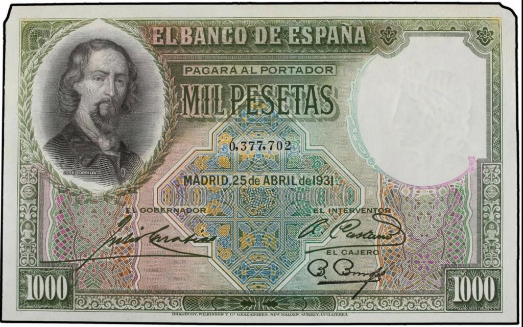 GRANDES MISTERIOS (I) - Tacos existentes 1000 pesetas 1931 Zorrilla - Página 7 Zorril10