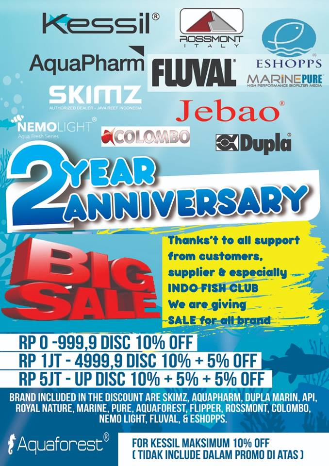 2ND - ANNIVERSARY BIG SALE & CLEARANCE OLD STOCK!! Sampai 5 November 2018 43595011