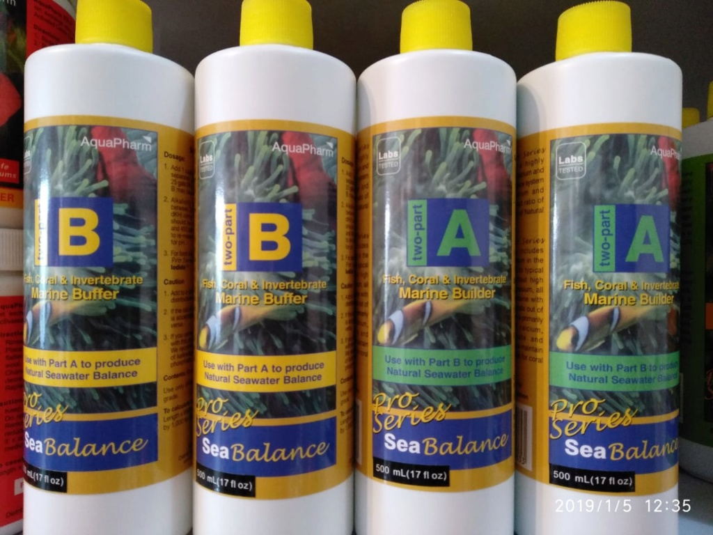 Ready stock 1. Aquapharm sea balance A 500 ml 2. Aquapharm sea balance B 500ml Whatsa13