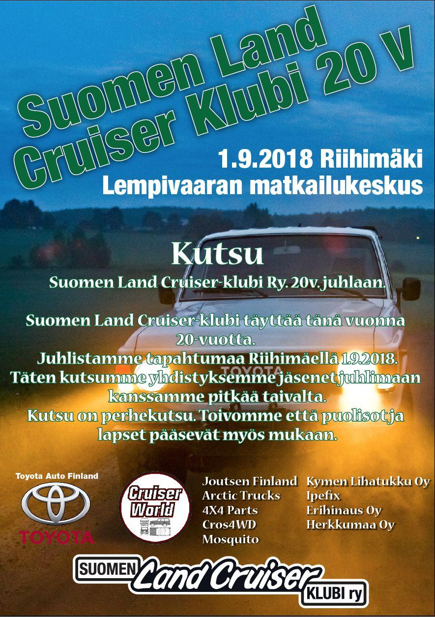 Suomen Land Cruiser-Klubi Ry 20v. Riihimäellä. Pasted13