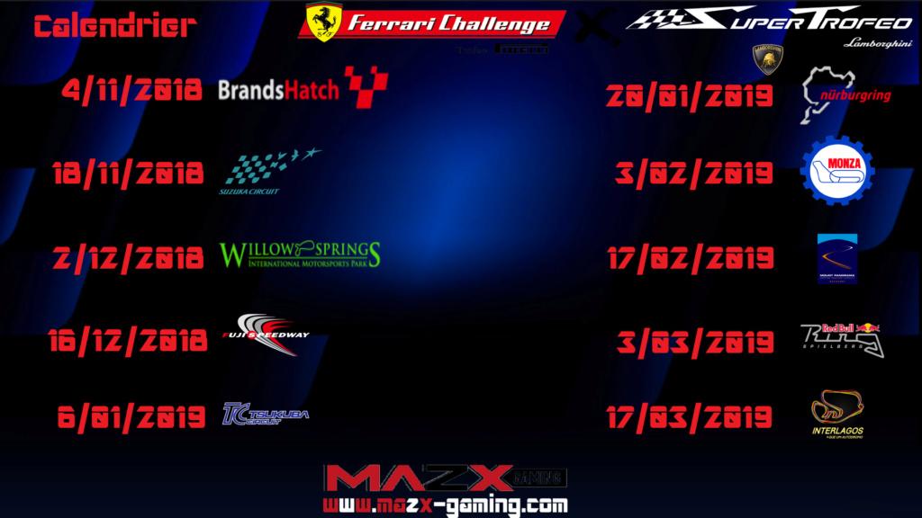 /!\Liste Circuit et Dates  Calend11