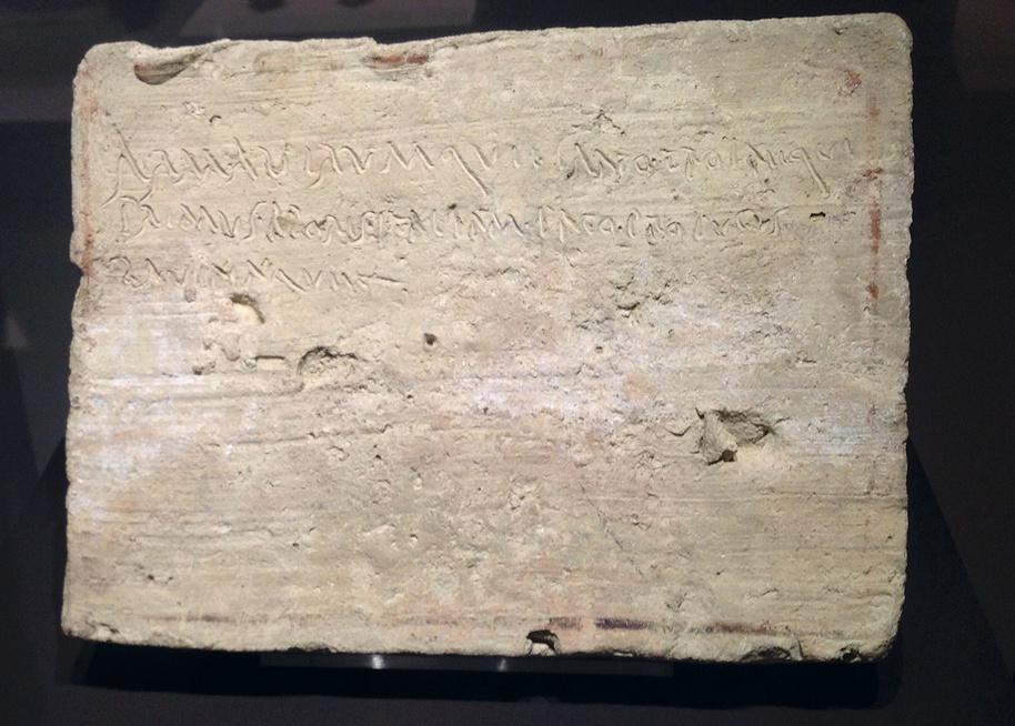 Un extrait de l'Odyssée découvert sur une tablette antique Arma10