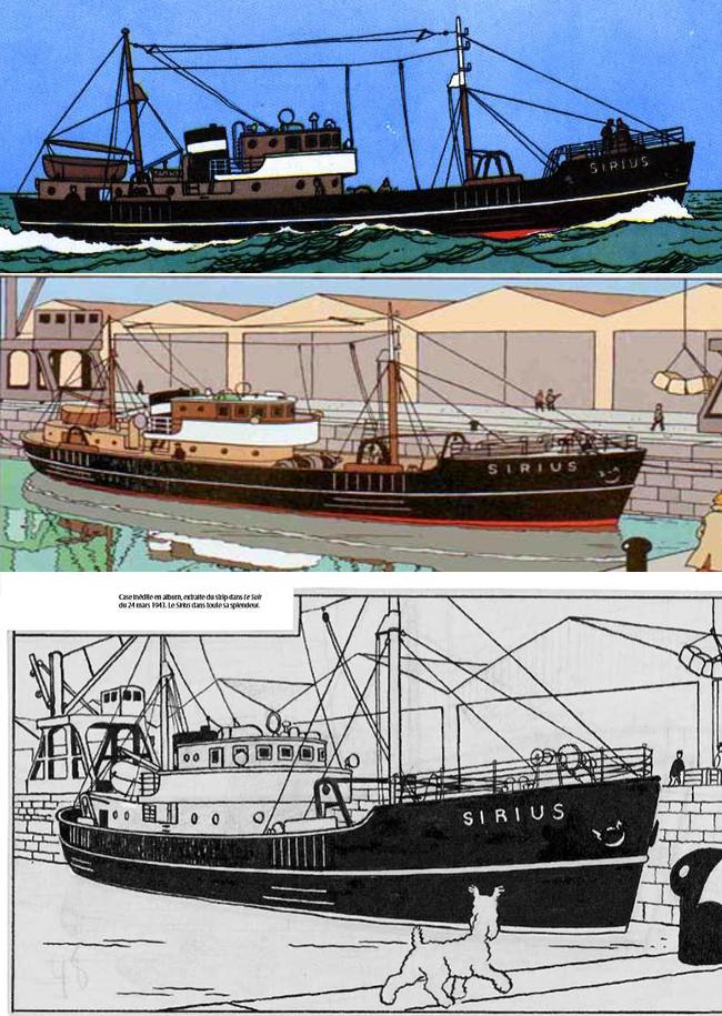 [REVELL] Northsea Fishing Trawler 1:142 Façon SIRIUS Tintin - Hergé 3_vues10