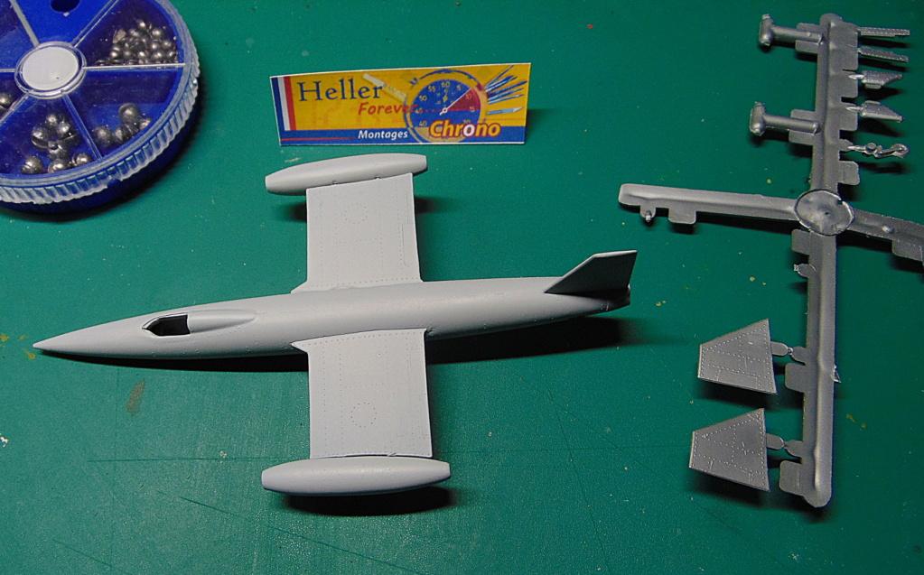 Montage chrono [HELLER Rapid Kit] SNCASO SO 9000 TRIDENT 1/100ème Réf 79725 Croix11
