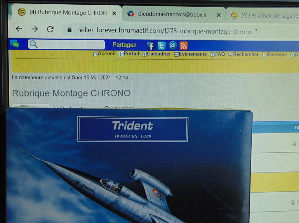 Montage chrono [HELLER Rapid Kit] SNCASO SO 9000 TRIDENT 1/100ème Réf 79725 Ecran11