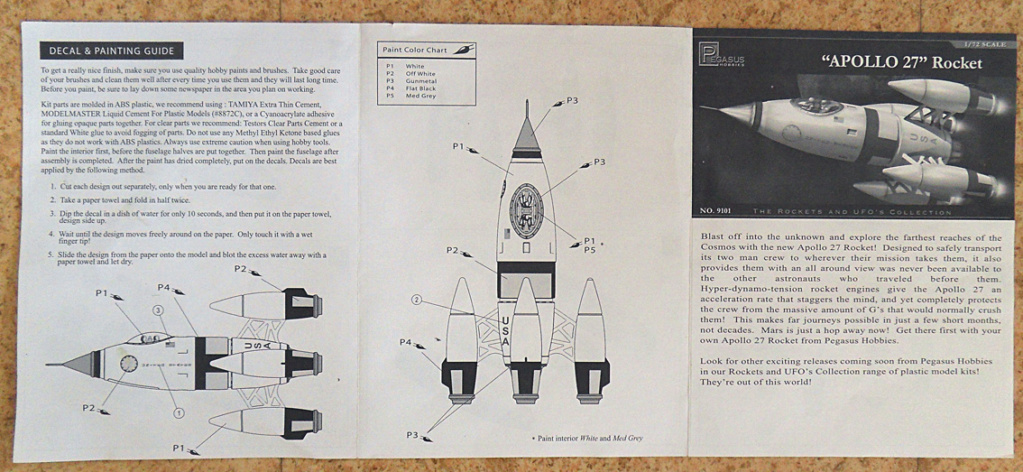 [Pegasus] Apollo 27 Rocket - 1:72 Notice14