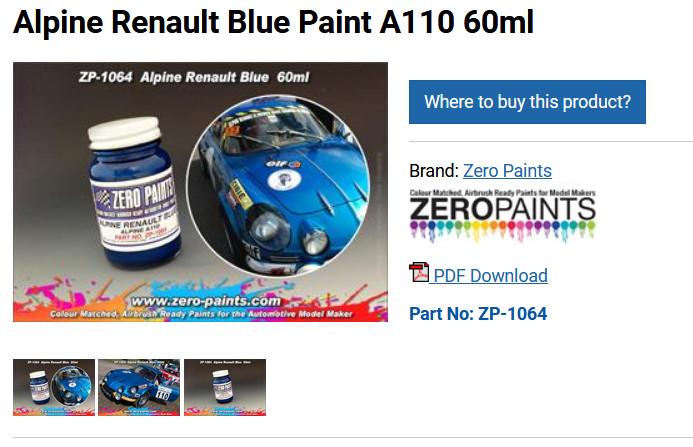 [HELLER] ALPINE A110 1600 S  - 1/24ème - Réf:80745 - Page 2 Peintu10