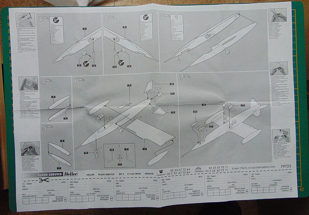 Montage chrono [HELLER Rapid Kit] SNCASO SO 9000 TRIDENT 1/100ème Réf 79725 Plan_m11