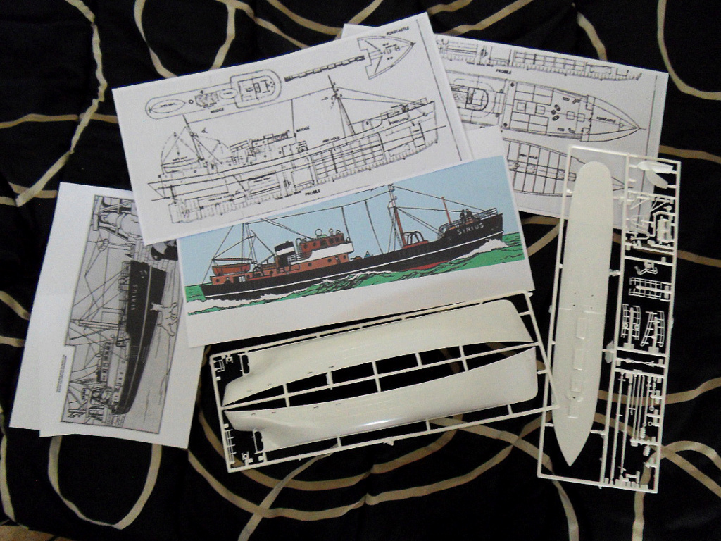 [REVELL] Northsea Fishing Trawler 1:142 Façon SIRIUS Tintin - Hergé Plans_10