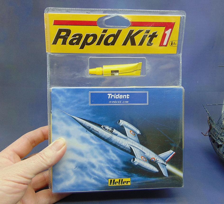 Montage chrono [HELLER Rapid Kit] SNCASO SO 9000 TRIDENT 1/100ème Réf 79725 Rapid_12