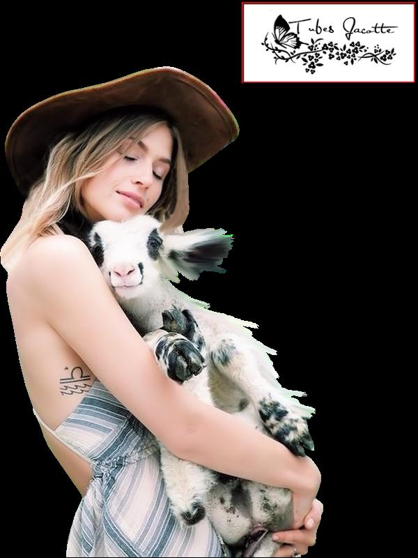 Défi du 1er SEPTEMBRE/ Femme & chèvre Tricot20