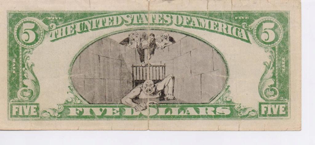 EE.UU. 5 dolares Abraham Lincoln  ayuda. 00214