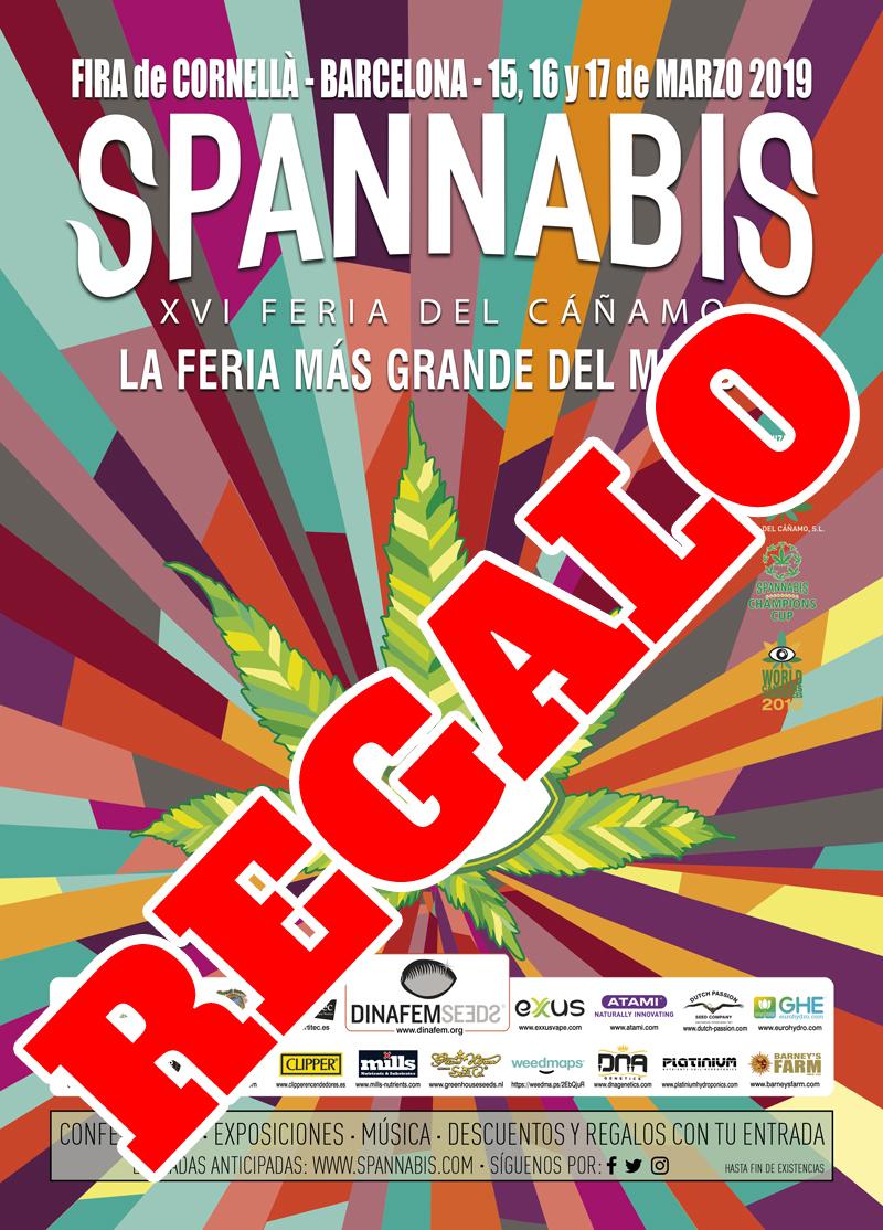 REGALO 1 ENTRADA DE UN DIA PARA SPANNABIS 2019 Cartel12