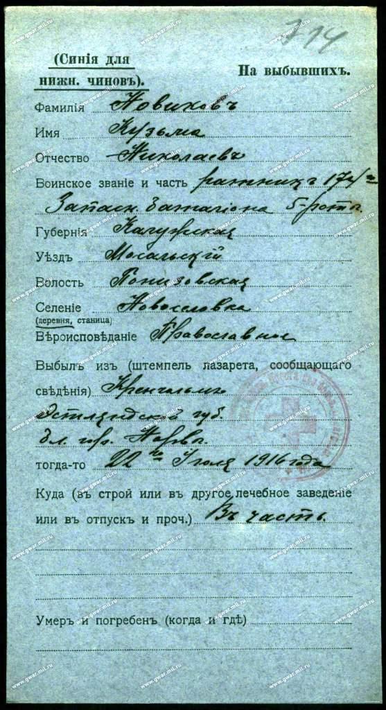 Различные выписки, содержащие информацию об уроженцах и жителях д. Новоселки _au_10