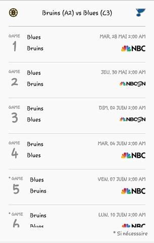 [Sport] National Hockey League 20190512