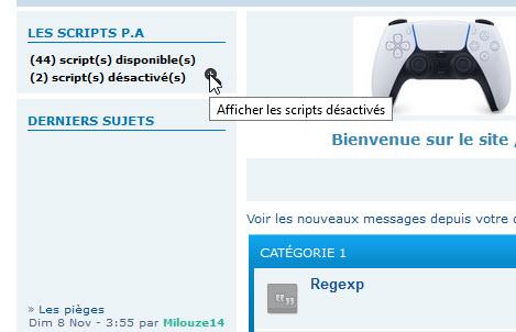 [TOUTES VERSIONS]Afficher les scripts disponibles et désactivés dans un widget (ADMIN) 180